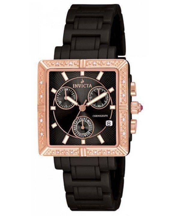 Invicta Ceramics Black Dial Diamonds Chronograph 10217 Womens Watch