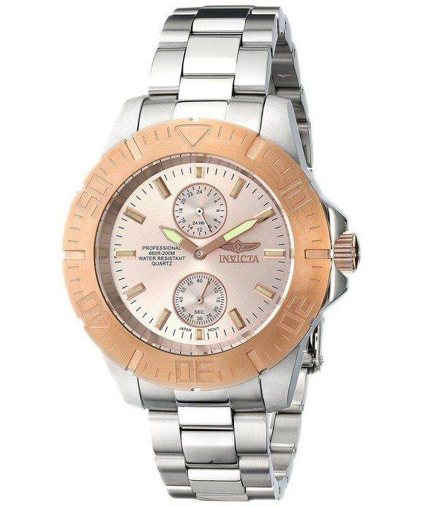 Invicta Pro Diver Rose Dial 200M 14347 Mens Watch