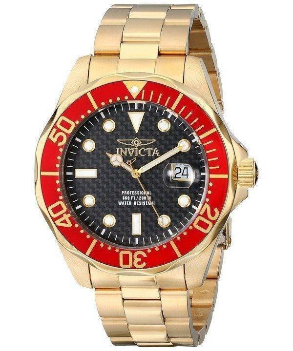 Invicta Pro Diver Gold Tone 200M 14359 Mens Watch