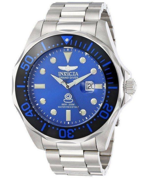 Grand Invicta Diver cadran bleu INV14655/14655 montre homme