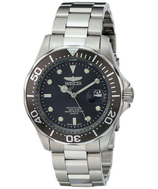 Invicta Pro Diver 200M Quartz Grey Dial INV14969/14969 Mens Watch