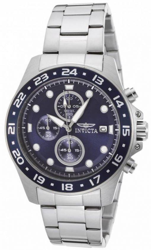 Invicta Pro Diver chronographe cadran bleu 100M 15205 montre homme