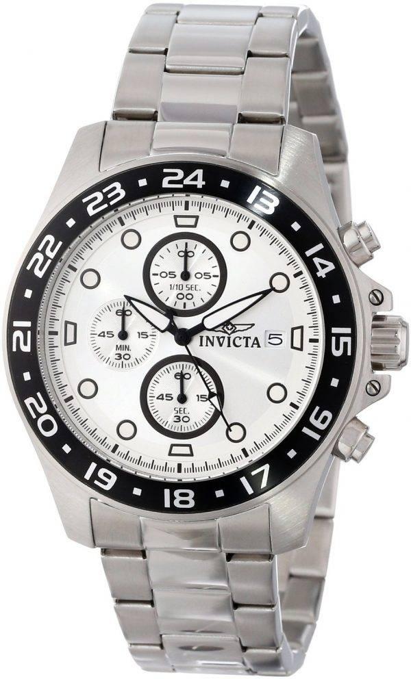 Montre Invicta Pro Diver Chronograph cadran argenté 100M 15206 hommes