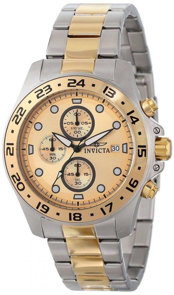 Invicta Pro Diver chronographe deux tons 100M 15207 montre homme