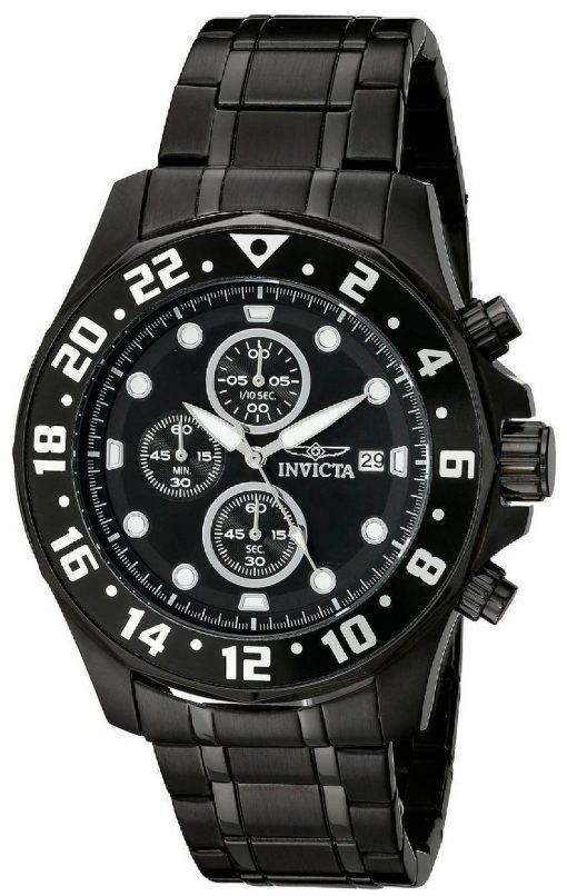 Montre Invicta spécialité chronographe cadran noir IP inox 15945 hommes