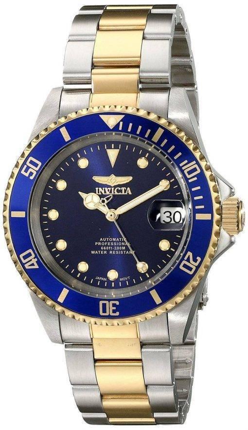 Automatique de Invicta Pro Diver cadran bleu deux ton inox 17045 montre homme