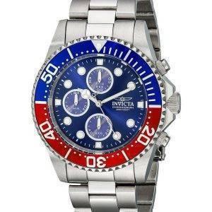 Montre Invicta Pro Diver Chronograph 200M cadran bleu INV1771/1771 hommes