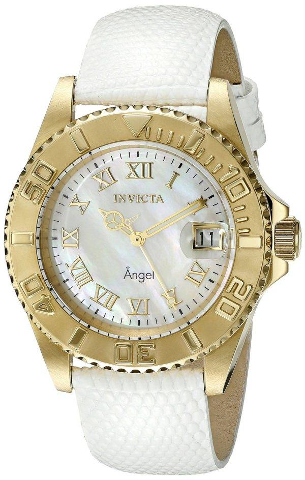 Invicta Angel mère de perle Date affichage 18415 Women Watch Dial