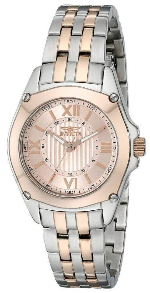 Invicta Angel Rose cadran en or deux tons en acier inoxydable 18747 Women Watch