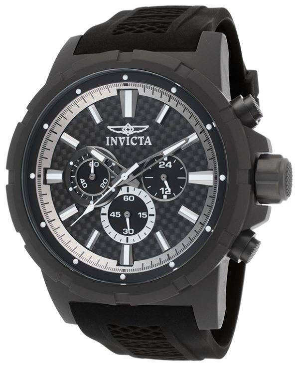 Invicta-22 TI titane chronographe cadran noir 20453 montre homme