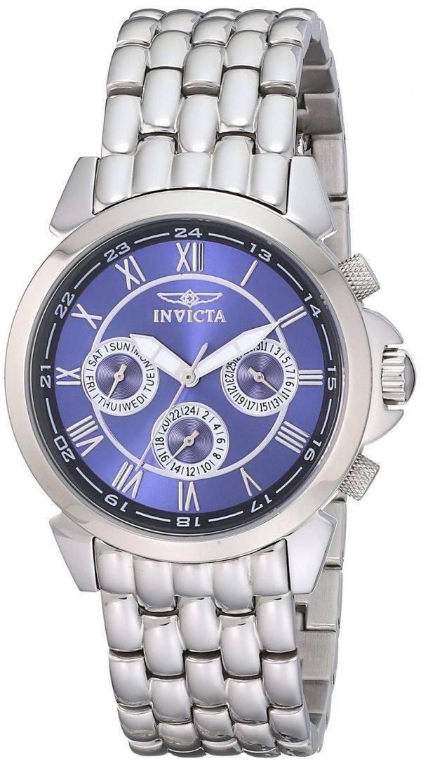 Montre Invicta spécialité Collection cadran bleu multifonction 2876 hommes