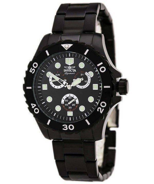 Invicta Signature II Black Dial Chronograph 7369 Mens Watch