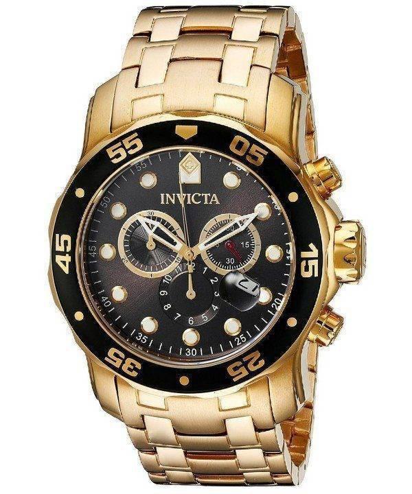 Montre Invicta Pro Diver 200M chronographe cadran anthracite INV80064/80064 masculine