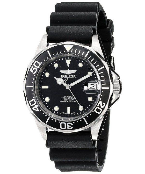 Invicta Pro Diver 200M Automatic Black Rubber INV9110/9110 Mens Watch