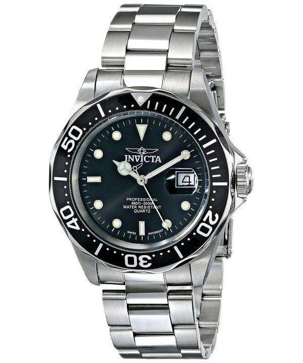 Invicta Pro Diver 200M Quartz Black Dial INV9307/9307 Mens Watch