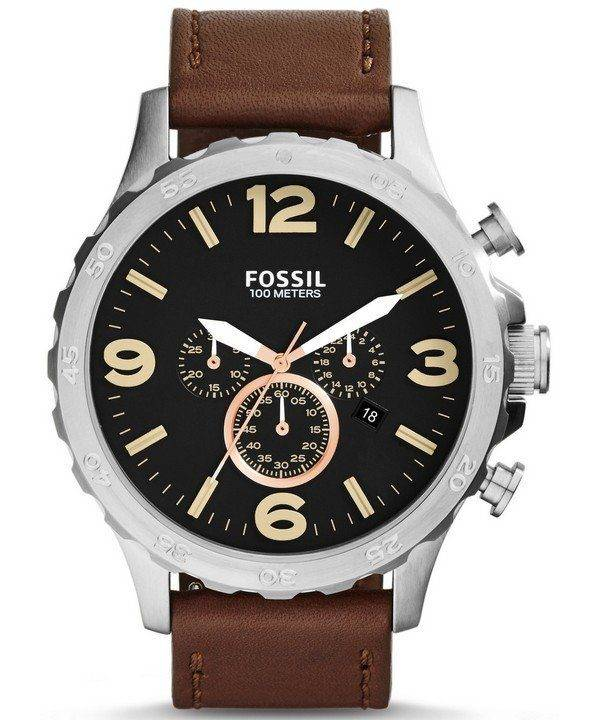 Fossil Nate Chronograph Black Dial JR1475 Mens Watch