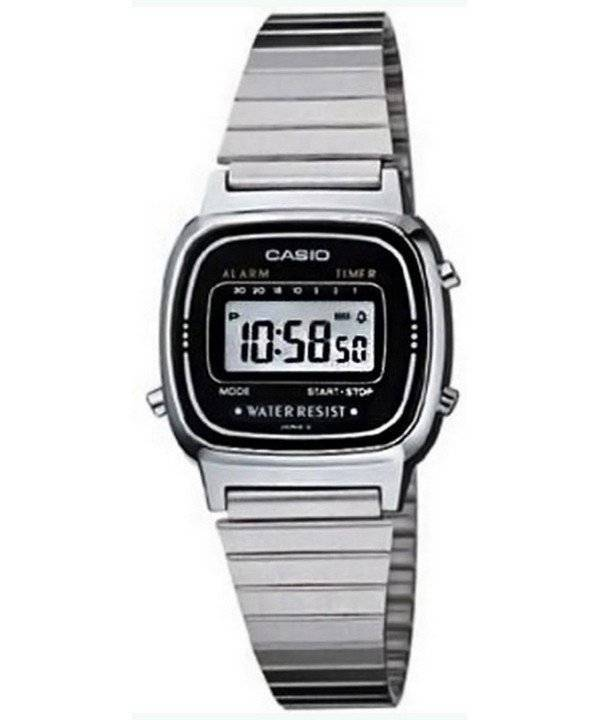 Casio Digital classique alarme minuteur LA670WA-1DF LA670WA-1 Women Watch