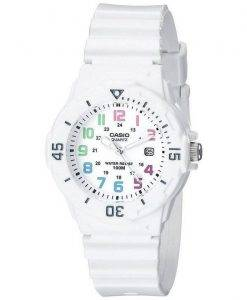 Casio Enticer analogique cadran blanc LRW-200H-7BVDF LRW-200H-7BV Women Watch