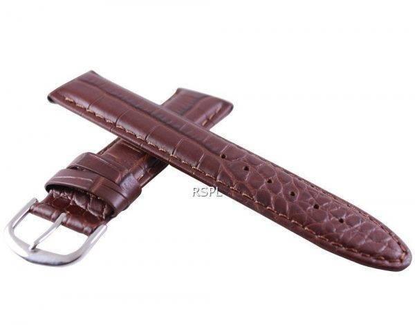 Bracelet de cuir brun Ratio marque 20mm pour SKX007 SKX009, SKX011, SRP497, SRP641
