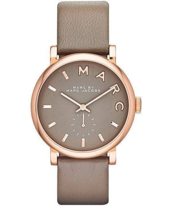 Marc By Marc Jacobs Baker Grey Dial Leather Band MBM1266 Womens Watch