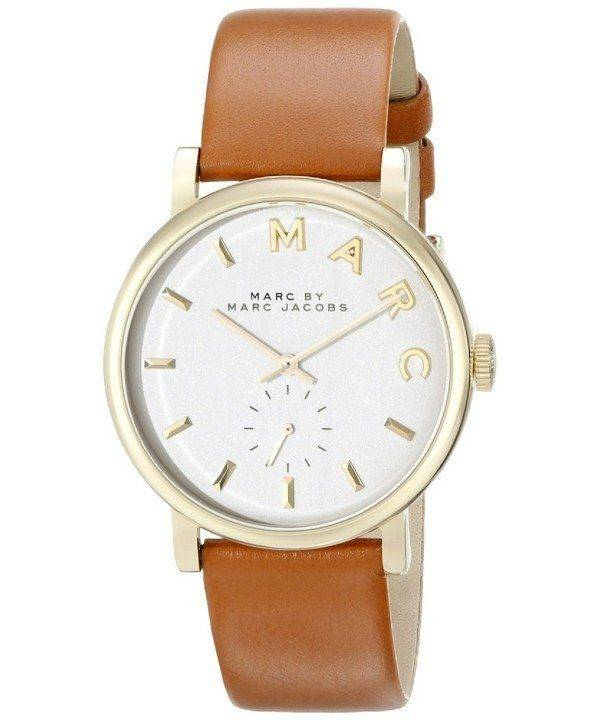 Marc By Marc Jacobs Baker White Dial Tan Leather MBM1316 Womens Watch