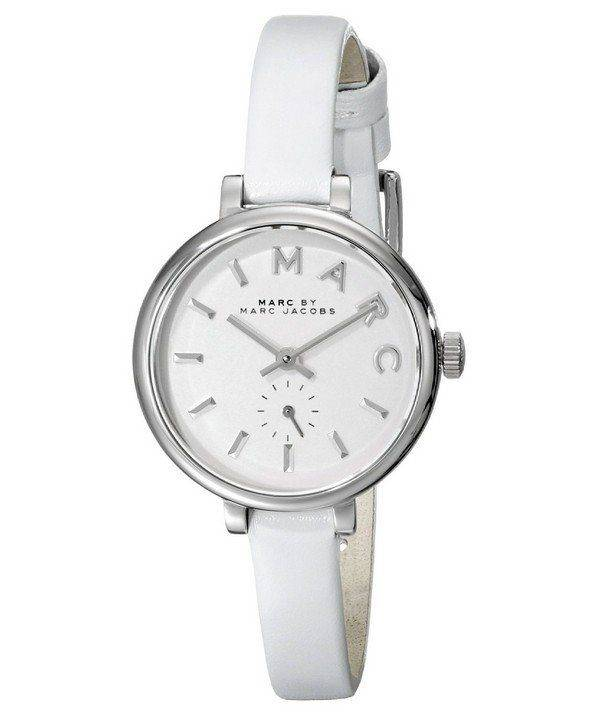 Marc By Marc Jacobs Sally White Dial White Leather Strap MBM1350 Womens Watch