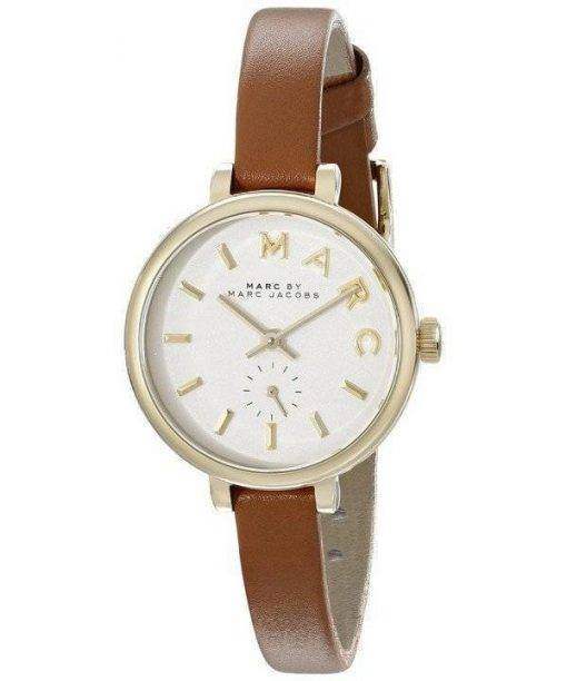 Marc By Marc Jacobs Sally White Dial Brown Leather Strap MBM1351 Womens Watch