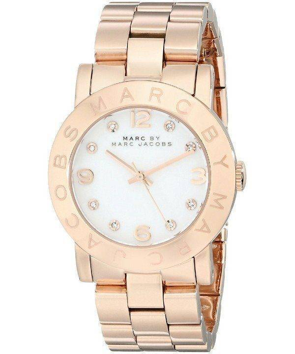 Marc By Marc Jacobs White Dial Rose Gold-Tone MBM3077 Womens Watch