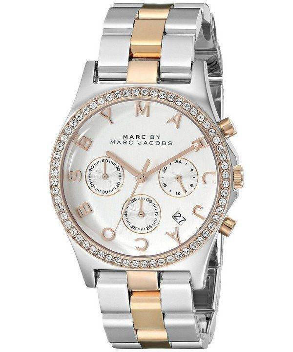 Marc By Marc Jacobs Henry Chronograph Crystals Silver Dial MBM3106 Womens Watch