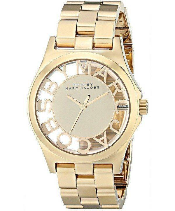 Marc By Marc Jacobs Henry squelette couleur or MBM3206 Women Watch Dial