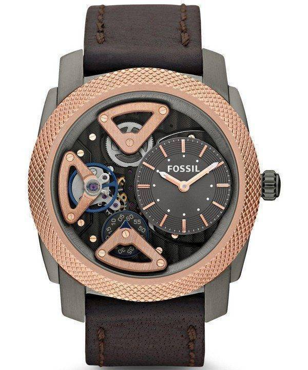 Fossil Mechanical Twist Rose Gold-Tone ME1122 Mens Watch