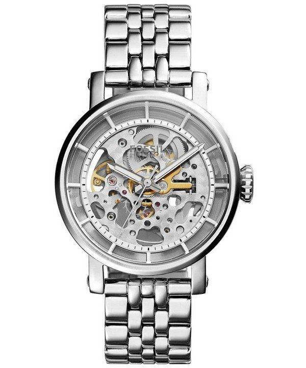 Fossil Original Boyfriend Automatic Skeleton Dial Stainless Steel ME3067 Womens Watch