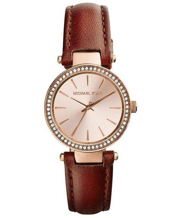 Michael Kors Petite Darci Rose Dial Crystals MK2353 Womens Watch