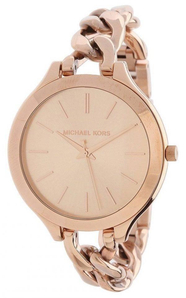 Michael Kors Slim Runway Twist Rose Gold-tone MK3223 Womens Watch
