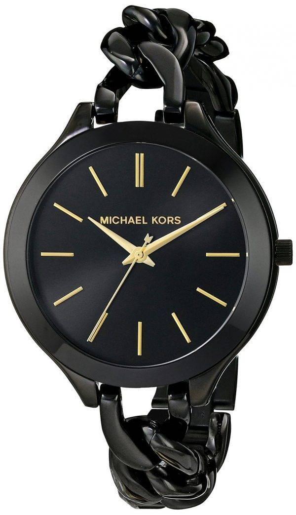 Michael Kors Slim Runway Black Dial MK3317 Womens Watch