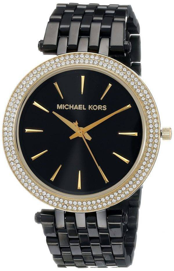 Michael Kors Darci Black Dial Crystals MK3322 Womens Watch