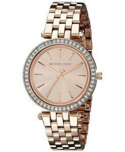 Michael Kors Darci Mini cristaux Rose Gold Tone MK3366 Women Watch