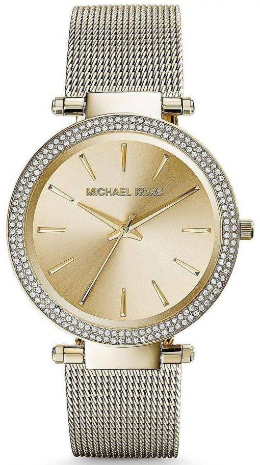 Michael Kors Darci Gold Tone Crystals MK3368 Womens Watch