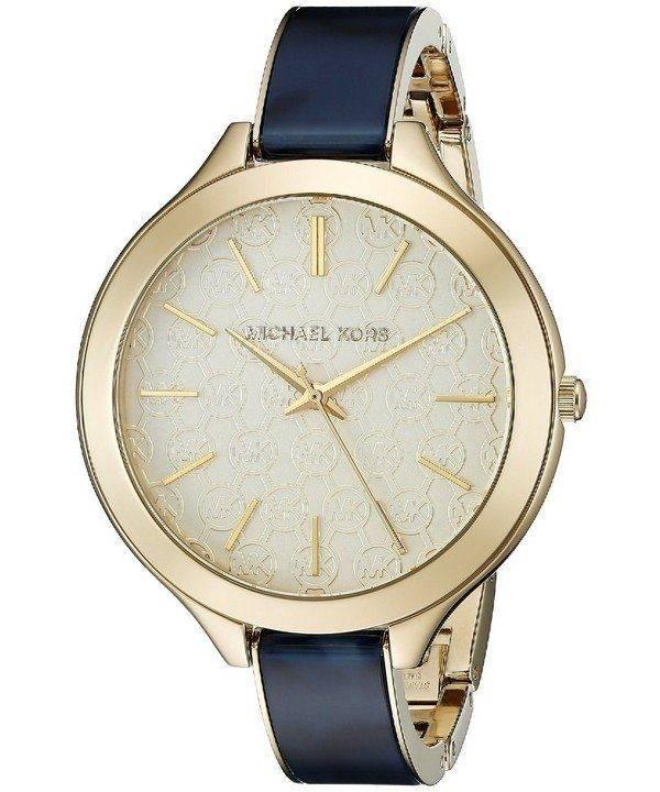 Michael Kors Slim Runway Gold Dial MK4309 Womens Watch