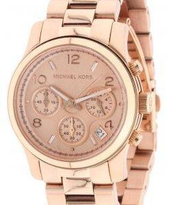 Michael Kors Rose montre chronographe or piste MK5128 féminin