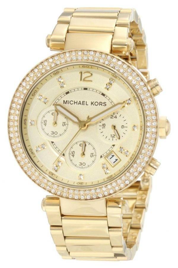Montre Michael Kors Parker Glitz chronographe cristaux MK5354 féminin