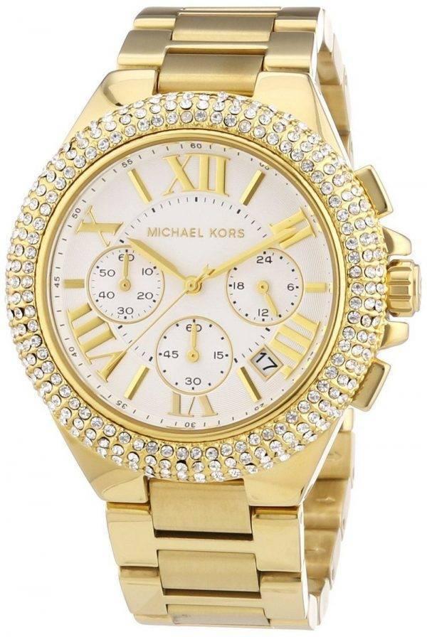 Montre Michael Kors chronographe Camille doré cristaux MK5756 féminin