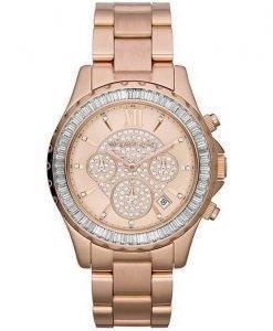 Montre Michael Kors Madison Rose or Crystal chronographe MK5811 féminin