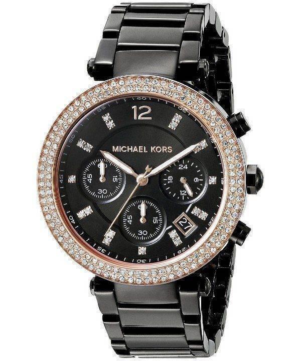Michael Kors Parker Chronograph Black Dial MK5885 Womens Watch