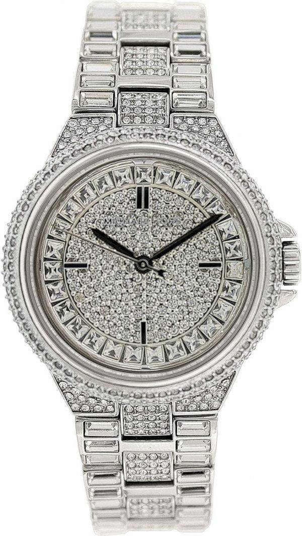 Michael Kors Camille Silver Crystal Pave Dial MK5947 Womens Watch