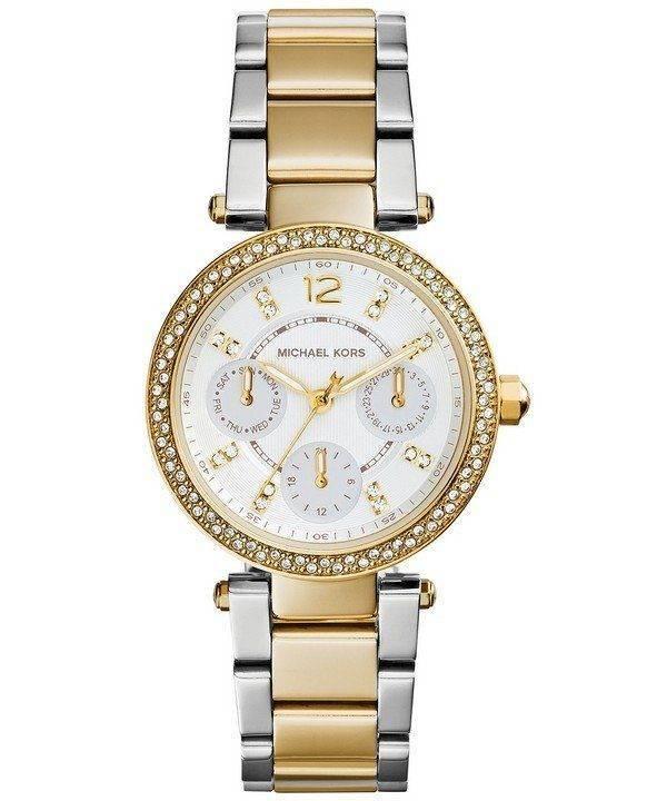 Michael Kors Mini Parker Crystals MK6055 Womens Watch
