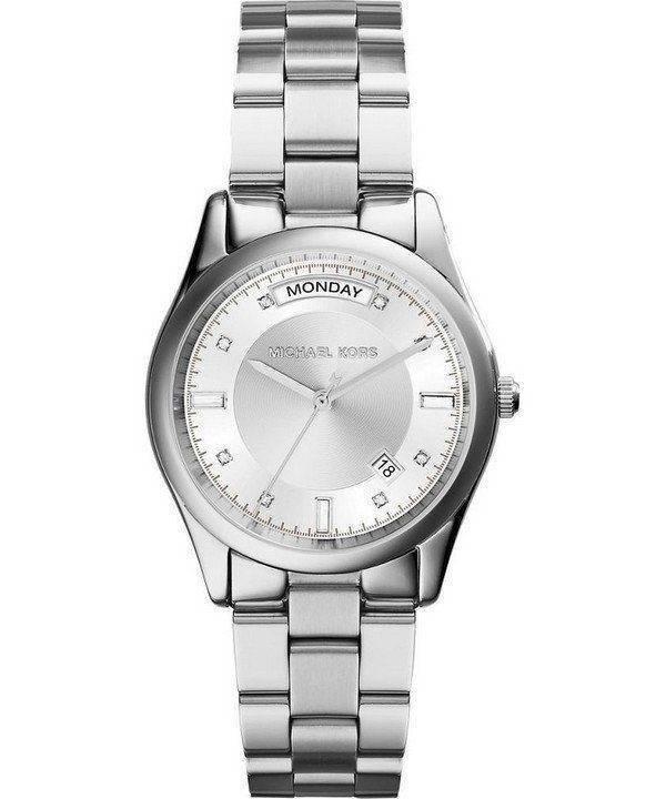 Montre Michael Kors Colette cristaux cadran argenté MK6067 féminin