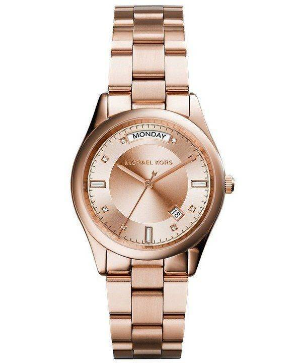 Michael Kors Colette Crystals Rose Gold Dial MK6071 Womens Watch