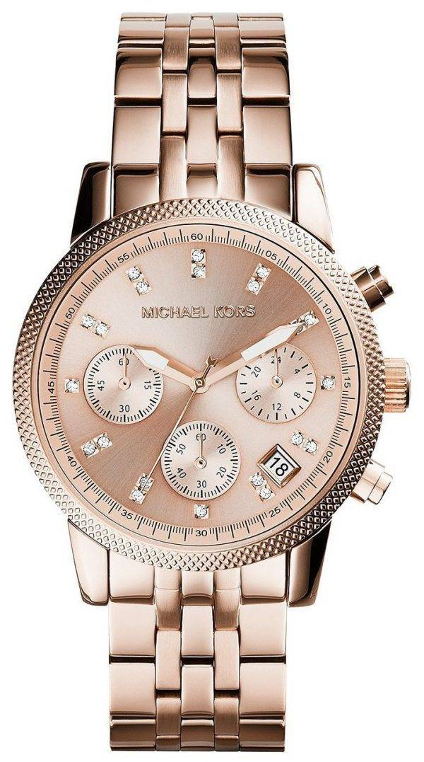 Michael Kors Ritz Chronograph Crystal Index MK6077 Womens Watch