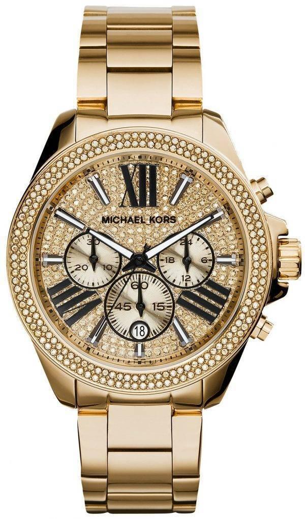 Michael Kors Wren Chronograph Crystal Pave Dial MK6095 Womens Watch